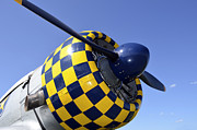 North American Aviation Prints - Close-up View Of The Propeller On An Print by Stocktrek Images