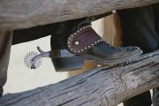Goods Framed Prints - Close View Of A Cowboy Boot, Complete Framed Print by Stacy Gold