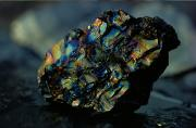 Minerals Photos - Close View Of A Large Chunk Of Peacock by James P. Blair