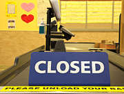 Conveyor Belt Posters - Closed Checkout Aisle Poster by David Buffington