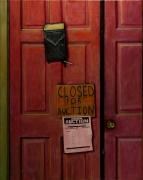 Recession Posters - Closed for Auction Poster by Doug Strickland