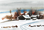 Berkshire Hills Living Framed Prints - Closed For The Season Framed Print by Len Stomski