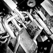 Roma Photos - CLOSED LOCKS padlocks on the Saint Angelo Bridge Ponte Sant Angelo Rome Italy by Andy Smy