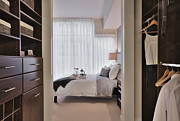 Drawers Prints - Closet in Upscale Bedroom Print by Andersen Ross