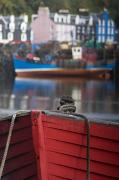 Docked Boats Prints - Closeup Of A Boat, Tobermory, Isle Of Print by John Short