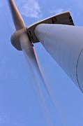 Closeup Of A Wind Turbine Print by Jeremy Woodhouse