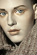 Portraiture Photo Posters - Closeup on Mannequins Face Poster by Sophie Vigneault