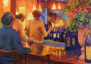Yellows Pastels Originals - Closing Time by Beth Brooks