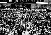 Exchanges Prints - Closing Time On The Trading Floor Print by Everett