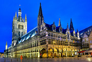 Ypres Prints - Cloth maker hall Ypres Belgium Print by Travel Images Worldwide