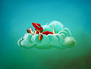 Surreal Paintings - Cloud 9 by Cindy Thornton
