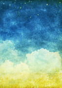 Stars Pastels Posters - Cloud And Sky Poster by Setsiri Silapasuwanchai
