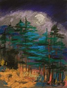 Full Moon Pastels - Cloud Bank by John  Williams