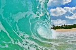 Surf Art Prints - Cloud Break Print by Paul Topp