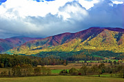 Smokey Mountains Photos - Cloud Covered Peaks by DigiArt Diaries by Vicky Browning
