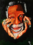 Basketball Paintings - Cloud Eleven - Bill Russell by Saheed Fawehinmi