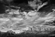 Black And White - Cloud Formation Hwy 179 Sedona AZ by Bob Coates