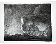 Storms Drawings - Cloud by Gary Gackstatter
