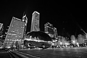 Low Light Framed Prints - Cloud Gate Framed Print by CJ Schmit