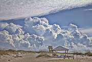 Picnic Table Framed Prints - Cloud Merge Framed Print by Deborah Benoit