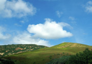 California Prints Prints - Cloud over Hills in Spring Print by Kathy Yates