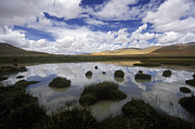 Slide Photographs Prints - Cloud Reflection - Tibetan Plateau Print by Craig Lovell