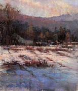 Winter Scenes Pastels - Cloud Shadows by Susan Williamson