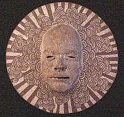 Asian Ceramics - Cloud sun disk by David Morgan