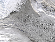 Topography Photos - Cloud Vortices Off Jan Mayen Island by Stocktrek Images
