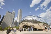 Chicago Landmark Prints - Cloudgate at Millennium Park Print by Abhi Ganju