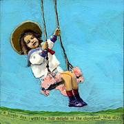Swing Art Paintings - Cloudless Sky by Linda Apple