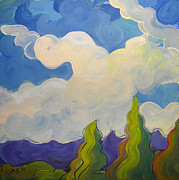 Stormy Weather Paintings - Clouds 5 by Pam Van Londen