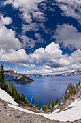 Crater Lake National Park Prints - Clouds Above Crater Lake Print by Greg Nyquist