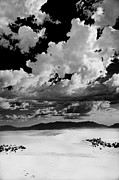 Gypsum Framed Prints - Clouds Above White Sands Framed Print by Ralf Kaiser