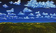Gregory Allen Page - Clouds and Grass Field