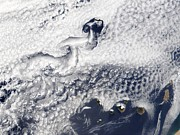 Canary Prints - Clouds Disrupted By Islands Print by Nasa