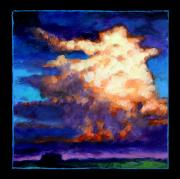 Clouds Sunset Painting Prints - Clouds Number Four Print by John Lautermilch