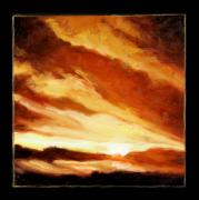 Storm Clouds Painting Originals - Clouds Number Nine by John Lautermilch