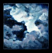 Storm Clouds Painting Originals - Clouds Number Ten by John Lautermilch