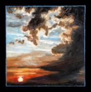 Clouds Sunset Painting Prints - Clouds Number Two Print by John Lautermilch