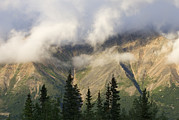 Mccarthy Prints - Clouds On Porphyry Mountain In Wrangell Print by Rich Reid