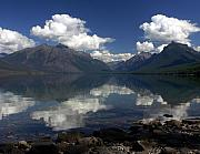 Lake Mcdonald Framed Prints - Clouds on the Water Framed Print by Marty Koch