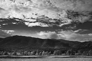 Black And White Rural Photography Prints - Clouds over Cades Cove Print by Andrew Soundarajan