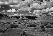 Black And White Photos - Clouds Over Cedar Mesa by Troy Montemayor