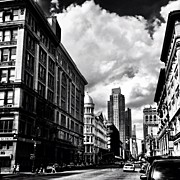 Landscapes Posters - Clouds Over Chelsea - New York City Poster by Vivienne Gucwa