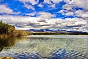 Lakes Digital Art - Clouds over Distant Mountains by Jeff Kolker