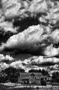 Barb Framed Prints - Clouds Over Farm 1 Framed Print by Dennis Sullivan