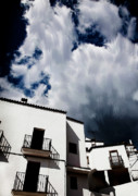 Chimneys Digital Art Prints - Clouds Over  Jubrique Print by Piet Scholten