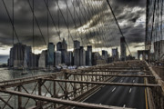 Architektur Metal Prints - Clouds over Manhattan Metal Print by Andreas Freund