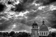 Kingston Prints - Clouds over St. Georges Cathedral - mono Print by Blair Hall